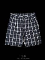 【FLASHBACK18SS最新作】Navy Check Shorts