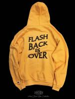 【FLASHBACK×Champion】OVERSIZE FLASHBACK is OVER Hoodie YEL