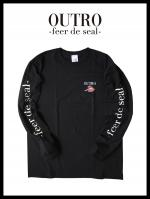 OUTRO-feer de seal- Smoking Lip Long Sleeve Tee BLK