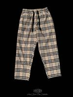 【FLASHBACK19SS最新作】Beige check Wide Pants