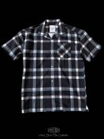 【FLASHBACK19SS最新作】HyperFit OVERSIZE Check short sleeve shirt BLK