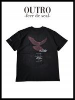 OUTRO-feer de seal- Back Eagle Essential Tee BLK