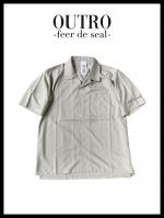 OUTRO-feer de seal- Open coller hyperfit shirt BEI