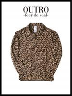 OUTRO-feer de seal- Leopard Long Sleeve Summer Shirt