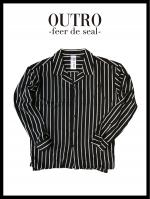 OUTRO-feer de seal- Oversize Strip Open Collar Shirt