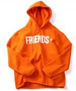 VLONE FRIENDS HOODIE ORANGE×WHT