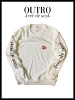 OUTRO-feer de seal- Smoking Lip Sweat shirt WHT