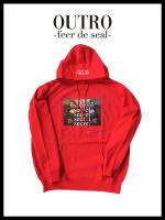 【OUTRO19AW】OUTRO-feer de seal- Secret Face Hoodie RED