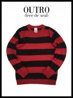 OUTRO-feer de seal- Feather Yarn Knit BLKRED