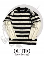 OUTRO-feer de seal-Fake Layered Knit WHTBLK