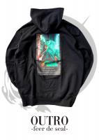 OUTRO-feer de seal- Smoking Lady Back Hoodie BLK
