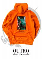 OUTRO-feer de seal- Smoking Lady Back Hoodie ORG