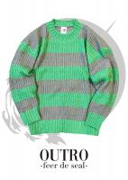 OUTRO-feer de seal- Loose Fit Border Knit