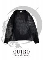 OUTRO-feer de seal- Middle Gauge Over Size Knit BLK
