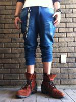 FLASHBACK Burn Out Denim Suet Pants