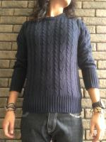 [9月中旬入荷]Cable Knitting Sweater
