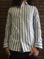 【FLASHBACK】OXford 70'S Stripe Shirts Type:SKY BLU