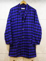 Long Check Shirts Jacket