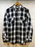 Ombre Check Shirts-BLACK-