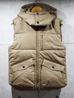 Detachable Hood Vest-BEIGE-
