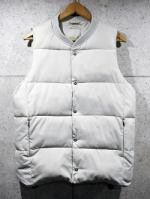 【先行予約1月入荷商品】Rib Neck Padded Vest-GRAY BEIGE-